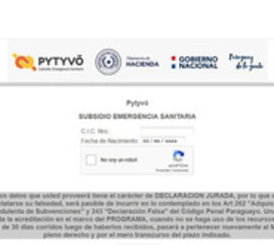 Falsificaron datos para ser beneficiarios del programa Pytyvõ