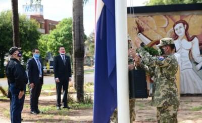 Con un sencillo acto, se conmemoró la Independencia Nacional en CDE