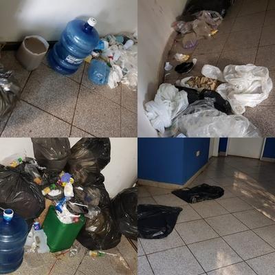 Oficina de Migraciones en CDE convertida en basural tras paso de compatriotas repatriados