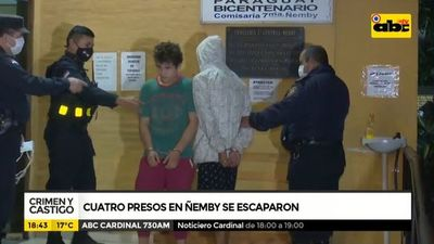 Cuatro presos en Ñemby se escaparon