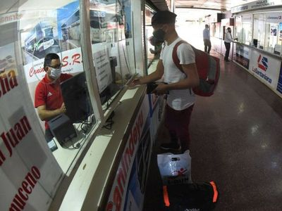 Terminal de Asunción habilita los viajes con exigencias sanitarias