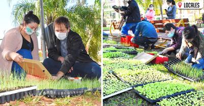Programa «ÑAÑEMITY NDE RÓGAPE» entregó plantines de hortalizas a productores de Encarnación