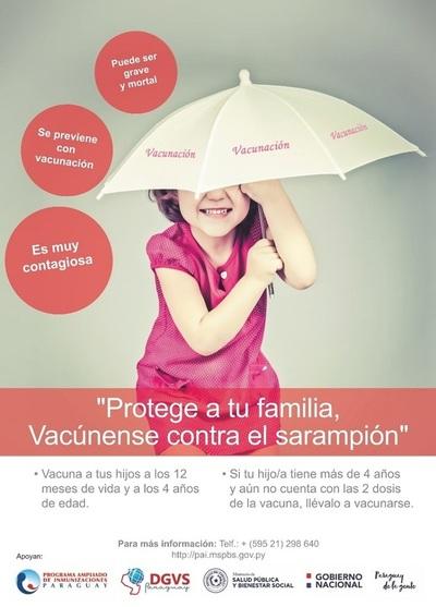 Salud insta a vacunar a niños contra el sarampión tras rebrote en países vecinos