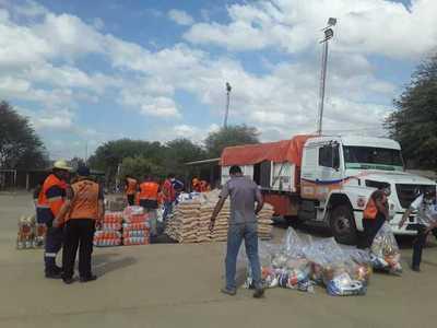 Continuan entrega de kits de víveres en el Chaco