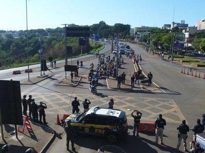 Comerciantes brasileños se manifestaron para pedir reapertura de la frontera con Paraguay