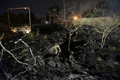 Incendio de patio baldío puso en peligro zona poblada de Limpio