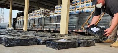 4 toneladas de marihuana fueron incautadas en camión de bananas