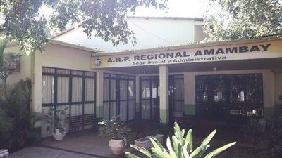 Predio de la ARP regional Amambay será usado como albergue