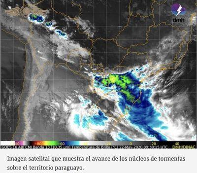 Frente frío: más lluvias y nuevo descenso de temperatura