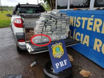 Decomisan 105 kilos de cocaína del «AGUILA»