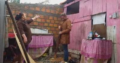 Coronel Oviedo: Fuerte temporal arrasó con asentamientos