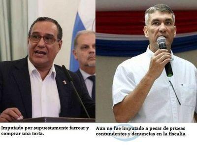 Gobernador de central imputado por comprar una torta, mientras que Ronald Acevedo aun no fue imputado por violar decreto presidencial e incitar a atropellar barrera militar