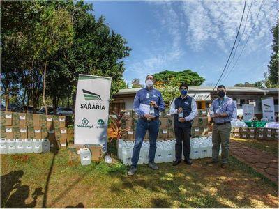 Juntos Sumamos: Grupo Sarabia dona 5.000 litros de alcohol en gel a Salud