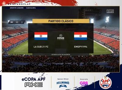 Luqueño es el último clasificado a semifinales de la eCopa APF Axe