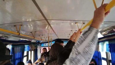 Buses están abarrotados