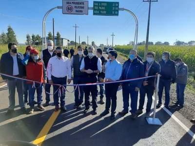 Mario Abdo inauguró obra vial el el departamento del Caaguazú – Prensa 5