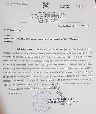 En Alto Paraná, calabozos están repletos de detenidos