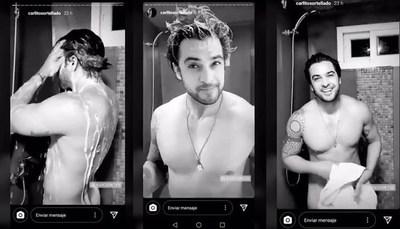 Carlos Ortellado calienta las redes al desnudo