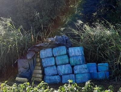 Incautan más de 1.400 kilos de marihuana en la Reserva Morombí