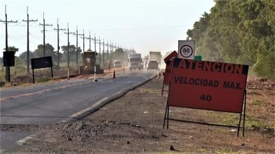 Avanzan obras de ensanchamiento y rehabilitación de la ruta de acceso a Loma Plata