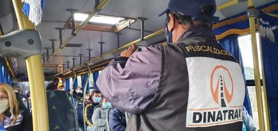 DINATRAN realiza controles de transporte público de corta, mediana y larga distancia