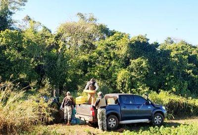 Hallan  carga de marihuana en plena  reserva Morombí