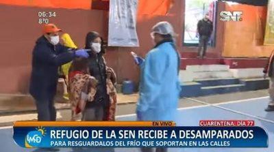 Refugio de la SEN recibe a personas en situación de calle