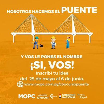 Lanzan concurso para nombrar al puente  que unirá Asunción con Chaco'i