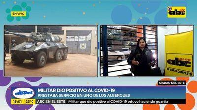 Militar da positivo al Covid-19