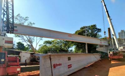 HOY / Primero de dos puentes del Corredor Vial está en fase final de montaje
