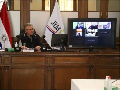 Por ausencia, JEM posterga sentencias contra camaristas y juez de CDE