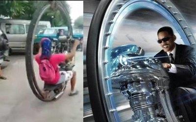 Ojapo moto igual a la de famosa peli