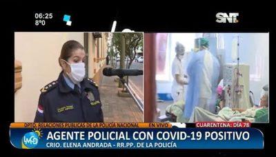 Agente policial da positivo al Covid-19