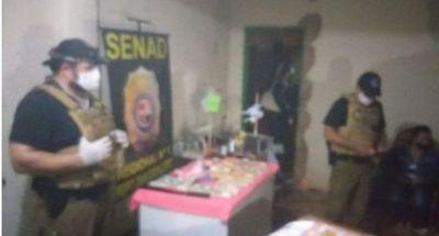Senad incautó drogas en barrio Obrero