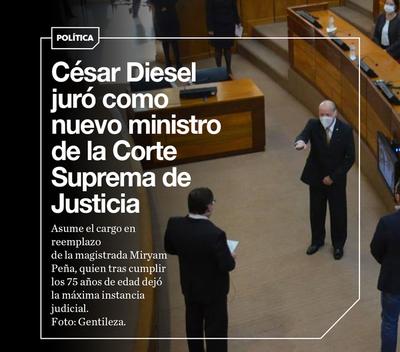 Diesel jura como nuevo ministro y se incorpora al pleno de la Corte