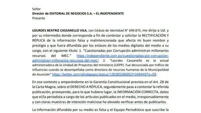 Administradora de la Unidad de Proyectos del MEC desmiente denuncias de corrupción