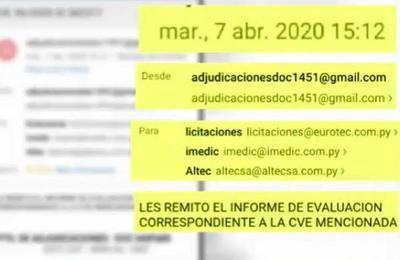 Documentos confirman 'blanqueo' para la compra de los polémicos insumos médicos