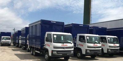 Camiones Volkswagen en la flota de Fadel en Paraguay