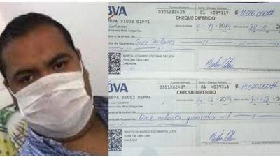 Insólito: ofrecen en venta cheques de concejal municipal en Pedro Juan Caballero