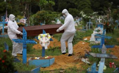 Brasil reportó 1.086 muertes en 24 horas