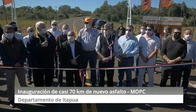 GOBIERNO INAUGURA NUEVOS TRAMOS ASFALTADOS QUE MEJORAN LA CONECTIVIDAD DE 34.000 ITAPUENSES