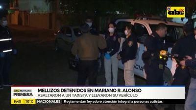 Mellizos detenidos en Mariano Roque Alonso
