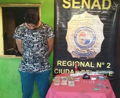 SENAD elimina foco de venta de drogas en el barrio Ciudad Nueva de CDE