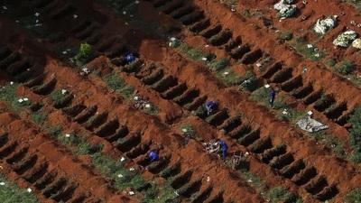 Brasil reportó 1.156 nuevas muertes por coronavirus