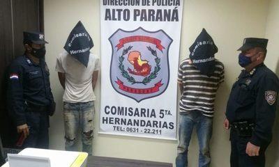 Hermanos detenidos tras intento de abigeato