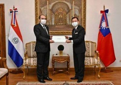 Nuevo embajador de Taiwán ante Paraguay presentó sus cartas credenciales