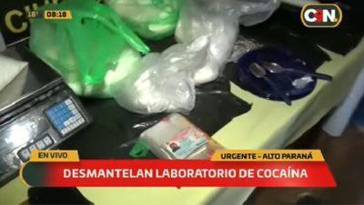 Desmantelan laboratorio de cocaína en el este del país