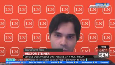HOY / Héctor Steiner, jefe de Desarrollo Digital del Grupo Nación y Multimedia y Jesica Barreto, editora general de La Nación, sobre la nueva cara de La Nación