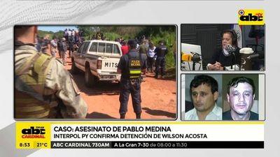 Caso asesinato de Pablo Medina: detienen a Wilson Acosta, supuesto autor material