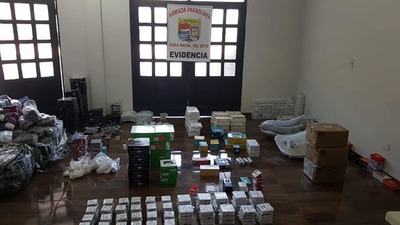 Incautan importante cargamento de mercaderías de contrabando en el río Paraná